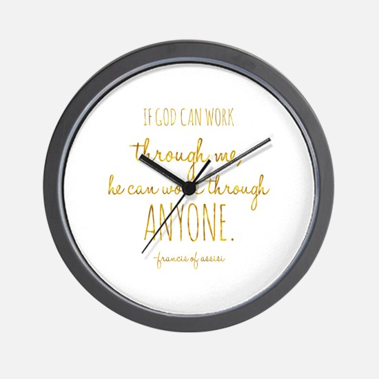 Cute Motivational work quotes Wall Clock