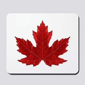 Red Maple Leaf Mousepad