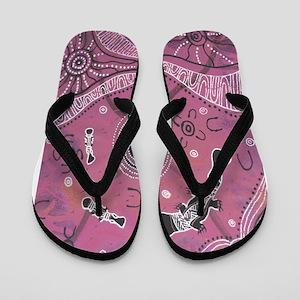 Platypus Dreaming Pink Flip Flops