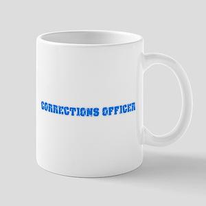 Corrections Officer Blue Bold Design Mugs