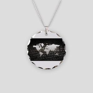 Global Subscriptio Necklace Circle Charm