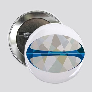"Rugby Ball Isolated Low Polygon 2.25"" Button (10 p"