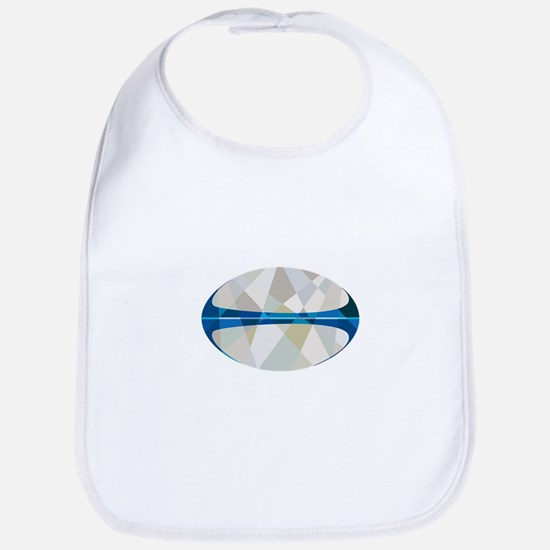 Rugby Ball Isolated Low Polygon Bib