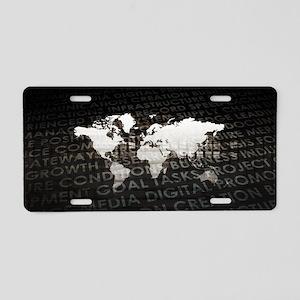 Global Subscriptio Aluminum License Plate