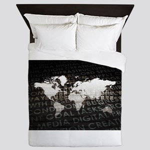 Global Subscriptio Queen Duvet