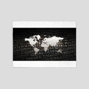 Global Subscriptio 5'x7'Area Rug