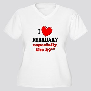 February 29th Women's Plus Size V-Neck T-Shirt