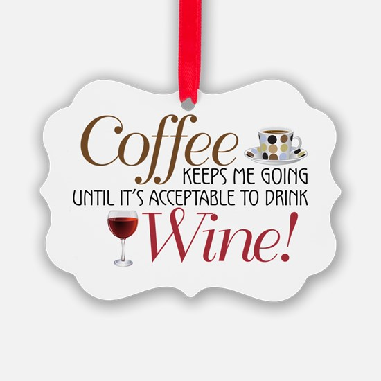 Coffee Wine Ornament