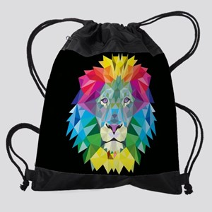 Rainbow Lion Drawstring Bag