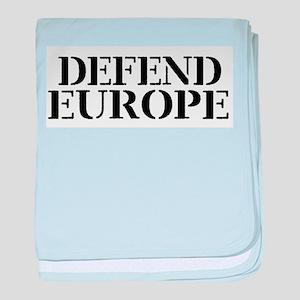 Defend Europe baby blanket