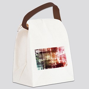 Digital Imagery wi Canvas Lunch Bag