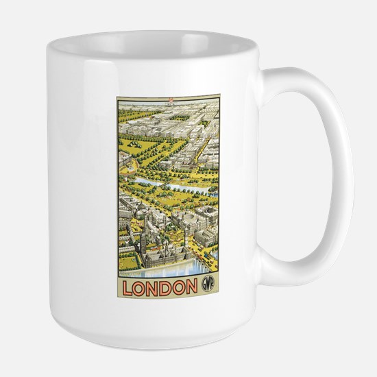 Vintage Urban London Travel P Large Mug