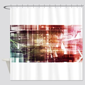 Digital Imagery wi Shower Curtain