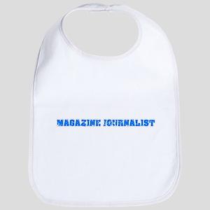 Magazine Journalist Blue Bold Design Baby Bib