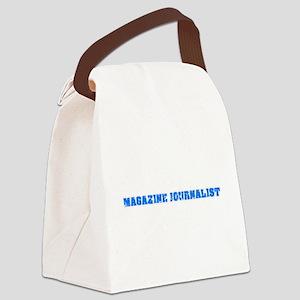 Magazine Journalist Blue Bold Des Canvas Lunch Bag