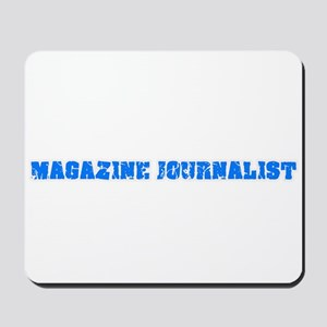 Magazine Journalist Blue Bold Design Mousepad