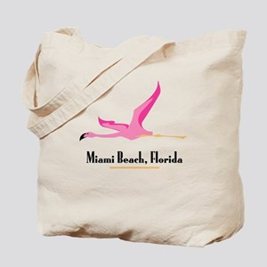 Miami Beach Flamingo - Tote Bag