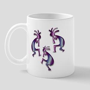 Purple & Blue Kokopelli Mug
