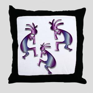Purple & Blue Kokopelli Throw Pillow