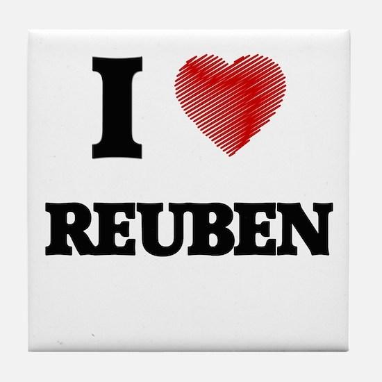 I love Reuben Tile Coaster