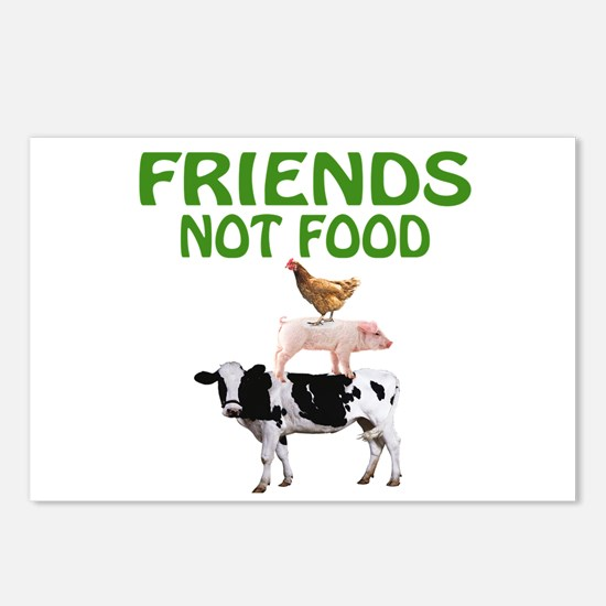 FRIENDS NOT FOOD Postcards (Package of 8)