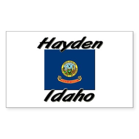 Hayden Idaho Rectangle Sticker