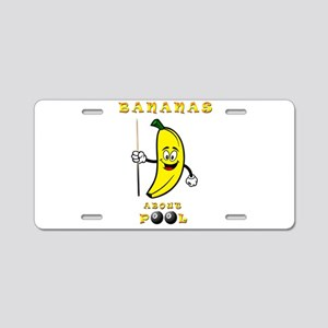 Bananas About Pool Aluminum License Plate