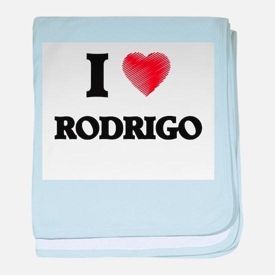 I love Rodrigo baby blanket