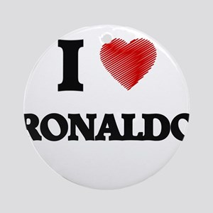 I love Ronaldo Round Ornament