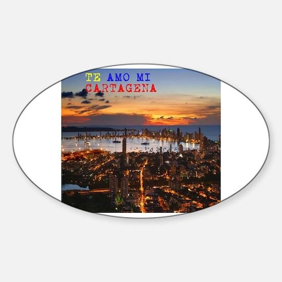 Cool Te amo Sticker (Oval)