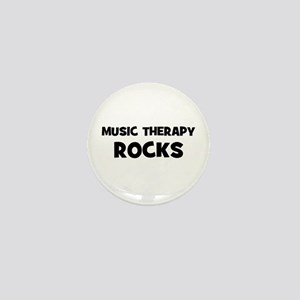 Music Therapy Rocks Mini Button