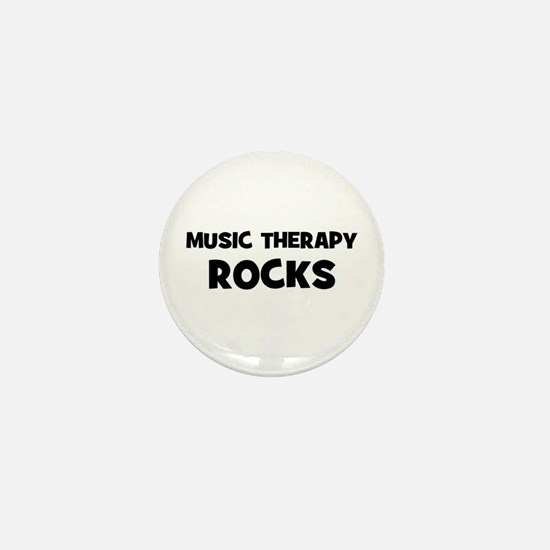 Music Therapy Rocks Mini Button
