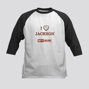 I LOVE JACKSON Kids Baseball Jersey