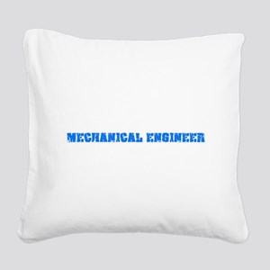 Mechanical Engineer Blue Bold Square Canvas Pillow