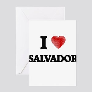 I love Salvador Greeting Cards
