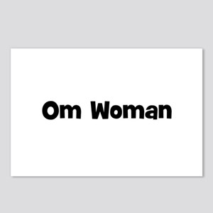 Om Woman Postcards (Package of 8)