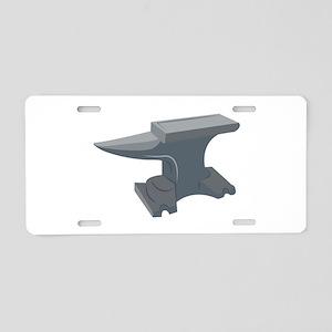 Blacksmith Anvil Aluminum License Plate