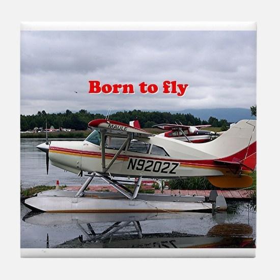 Born to fly: Float plane 12, Lake Hoo Tile Coaster