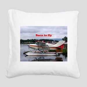 Born to fly: Float plane 12, Square Canvas Pillow