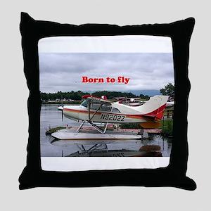 Born to fly: Float plane 12, Lake Hoo Throw Pillow