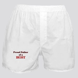 Proud Father of a Host Boxer Shorts