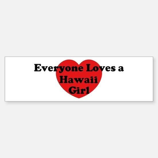 Hawaii girl Bumper Bumper Bumper Sticker
