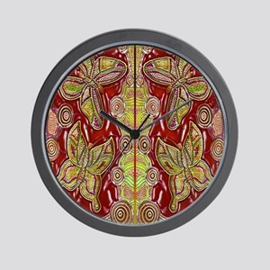 Butterfly Dreaming Yellow Wall Clock