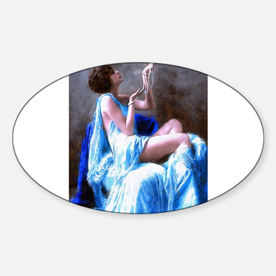 Burlesque Girl with Pearls Decal