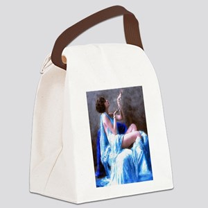 Burlesque Girl with Pearls Canvas Lunch Bag