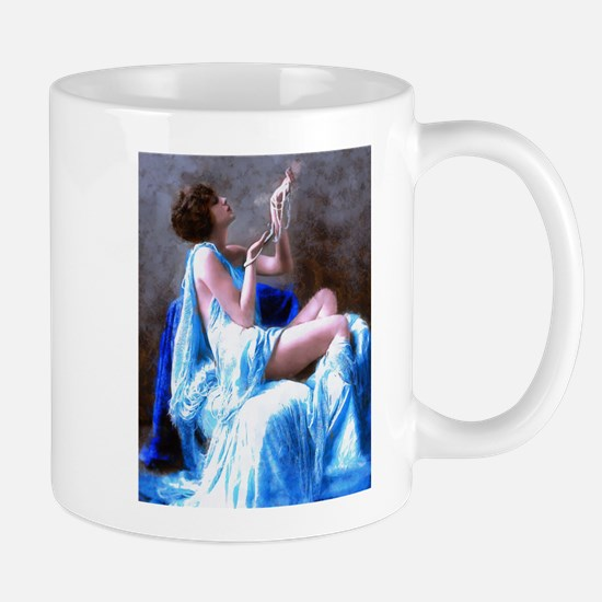 Burlesque Girl with Pearls Mugs