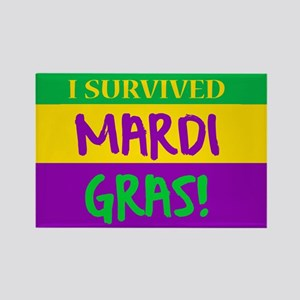 I SURVIVED MARDI GRAS Magnets