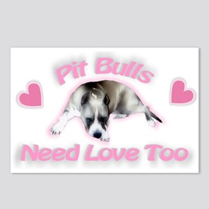 RK Pit Bull Love Postcards (Package of 8)