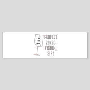 20/20 Vision Bumper Sticker