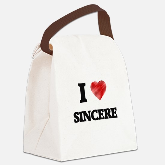 I love Sincere Canvas Lunch Bag